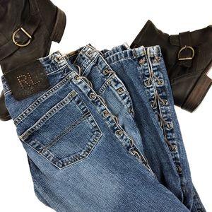 "Ralph Lauren Vintage 90's ""Rocker"" Tie-Side Jeans"